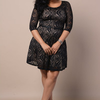 Plus Size Lace Babydoll Dress
