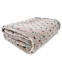 PAWZ Road Pet Dog Blanket Fleece Fabric Soft and Cute 3 Colors 3 Sizes