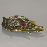 Jay Strongwater Peacock Trinket Tray