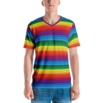 PRIDE, RAINBOW Men's V-Neck T-shirt