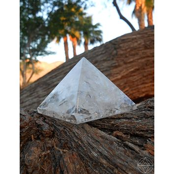 Crystal Clear Quartz Pyramid (Large)