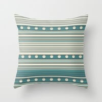 Grey and Blue Throw Pillow by nandita singh