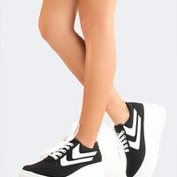 Lace Up Platform Sneakers - ZOOSHOO