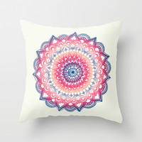Ocean Sunset Mandala Throw Pillow by Tangerine-Tane
