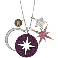 Galaxy Charm Necklace - Yellow Gold
