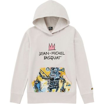 WOMEN SPRZ NY SWEAT HOODIE (JEAN-MICHEL BASQUIAT) | UNIQLO