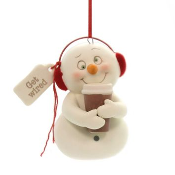 Holiday Ornaments GET WIRED Porcelain Snowpinions Christmas Coffee 6001856