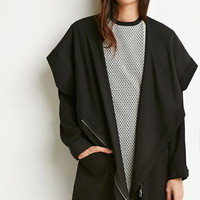Buttoned Wrap Cocoon Jacket