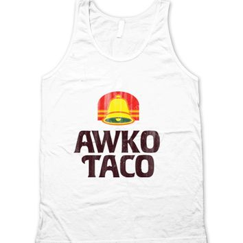 Awko Taco Vintage Bell Typography Unisex Tank Top