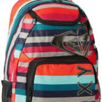 Roxy Juniors Shadow View Backpack ~ Cherry Red