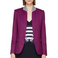 Stella Mccartney Hyacinth Violet And Heather Grey Fleur Blazer