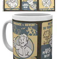 Officially Licensed FALLOUT 4 Vault Boy Mug - VAULT POSTERS - Official Licensed ceramic mug