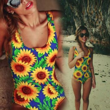 Sexy printing One Piece Swimwear