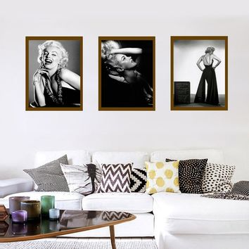 Marilyn Monroe Nordic Style Cartoon Canvas Poster Wall Art Prints Kids Room Home Decor Modern Wall Posters