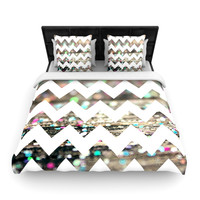 "Beth Engel ""After Party Chevron"" Twin Woven Duvet Cover - Outlet Item"