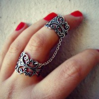 silver slave ring, filigree ring, body jewelry