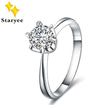 STARYEE 18K Gold Solitaire Charles Colvard Moissanite Engagement Ring For Women
