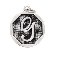 Designer Inspired Add A Charm Initial Letter G Silver Plate for Expandable Bangle Bracelet