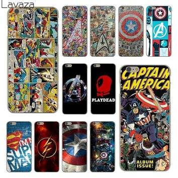 Deadpool Dead pool Taco Lavaza The Avengers Marvel  Flash Captain America Hard Clear Skin Cover Case for iPhone 6 6S Plastic Back Case AT_70_6