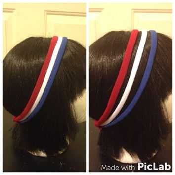 Patriotic three piece strand headband-No slide headband from Nicole Ray