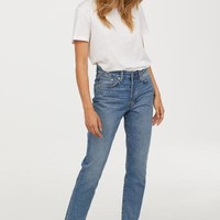 Mom Jeans - Light blue denim - Ladies | H&M US