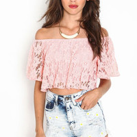 Off Shoulder Lace Top - LoveCulture