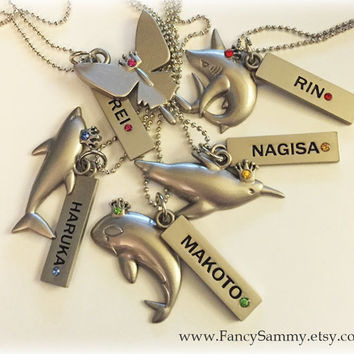 Anime Iwatobi Swim Club Necklace