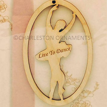 Unique Wooden Ballet Dancer Ornament, Ballet Dancer gift, Ballet  ornament ~ FREE PERSONALIZATION