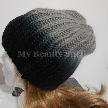 Womens winter hat, Winter hat for womens, ombre Knit Beanie, womens knit hat, Slouchy knitted hats