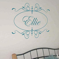 personalised name wall art sticker / decal by nutmeg | notonthehighstreet.com