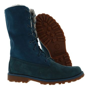 Timberland 6 Inch Fold-Down Shearling Boots Women's Shoes Size