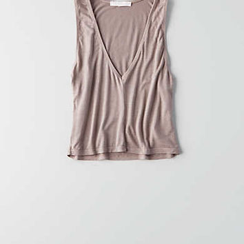 Don't Ask Why V-Neck Cropped Tank, Mauve