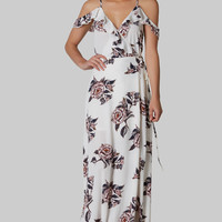 Back It Out Floral Maxi Dress