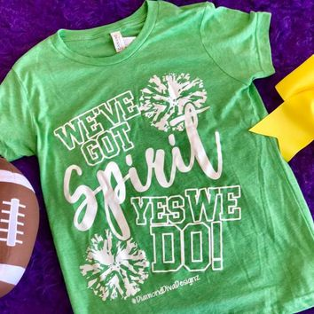 Diamond Diva 2017 Fall Got Spirit Youth Game Day Green/White Shirt