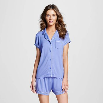 Women's Pajama Set Deep Periwinkle - Gilligan & O'Malley™ : Target
