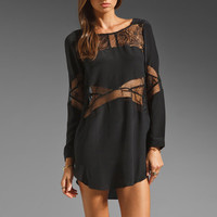 Shakuhachi Lace Panel Mini Dress in Black from REVOLVEclothing.com