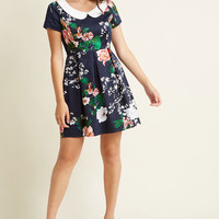 Record Time Floral Dress in Navy Blooms