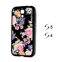 Retro Floral Samsung Galaxy S5 and Galaxy S4 Case