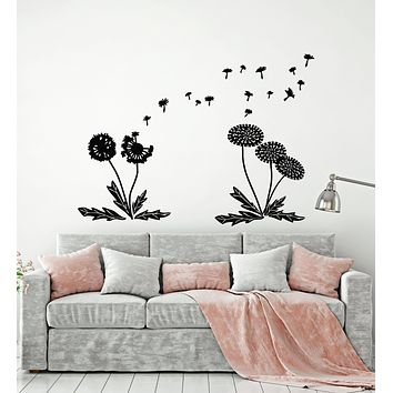 Vinyl Wall Decal Flower Dandelions Floral Art Bedroom Decor Stickers Mural (g588)