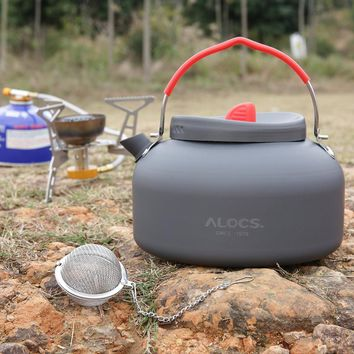1.4L Kettle Alocs Aluminum CW-K03 Outdoor Kettle Camping Picnic Water Teapot Coffee Pot free shipping