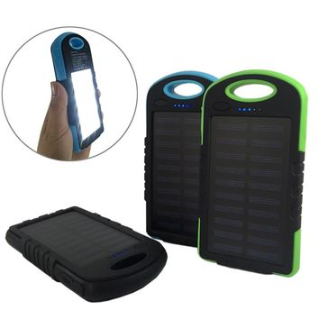 External Battery Charger Case 8000mAh Solar Panel Sun Power Bank Silicone Edges Antiknock for iPhone 8,X,Xiaomi,Huawei,SAMSUNG