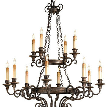 Currey Galleon Chandelier-9682