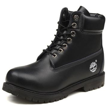 Timberland Rhubarb Boots 10061 Black Waterproof Martin Boots