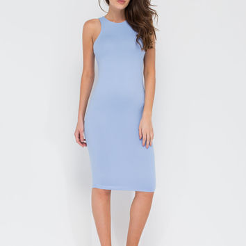 Soften The Blow Midi Tank Dress