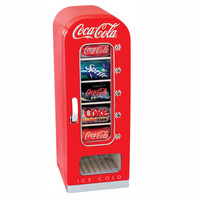 Coca-Cola Retro Vending Fridge at Brookstone—Buy Now!