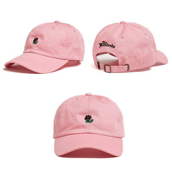 Pink The Hundreds Rose Strap cotton cap Adjustable Golf Snapback Baseball Hat
