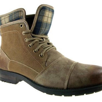 Polar Fox  Men's 508012 Distressed Plaid Ankle Boot