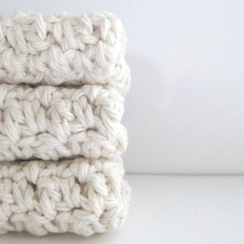 cotton crochet washcloth/face scrubbies AND you can pick the colors