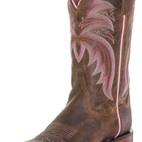 "Dan Post Womens 11"" Cowboy Boots - Bay Apache/Pink"