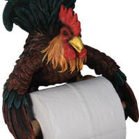 Rooster Toilet Paper Holder